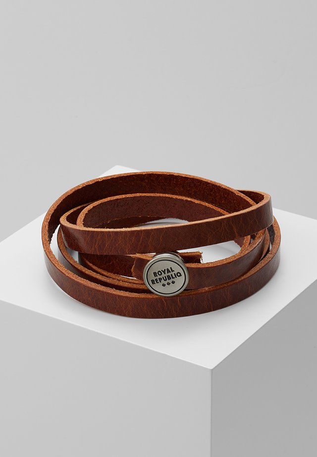 SPIRAL BRACELET - Armband - cognac