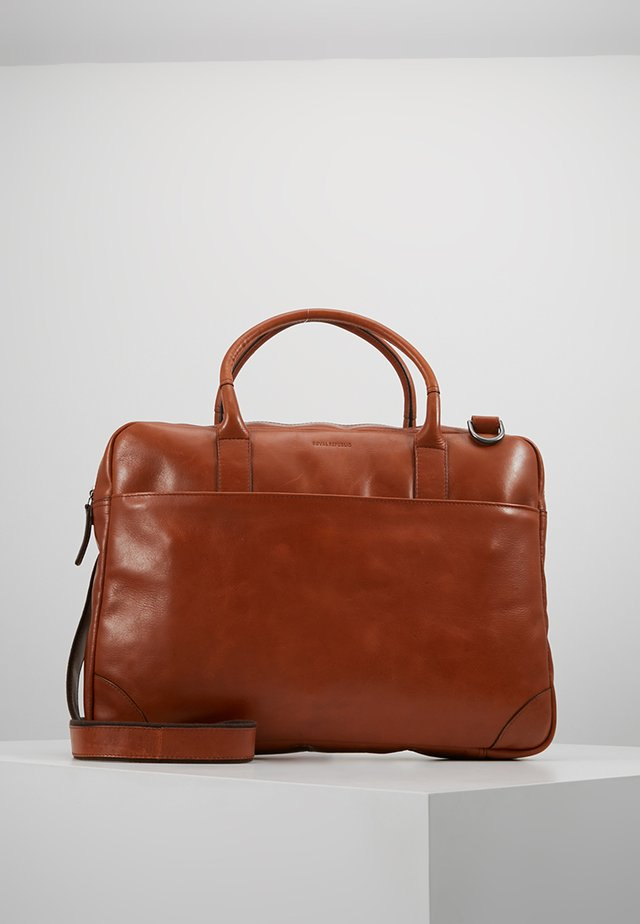 EXPLORER LAPTOP BAG SINGLE - Attachetasker - cognac