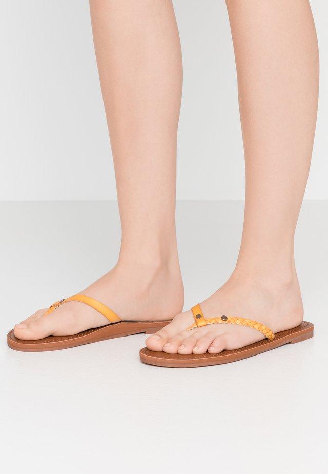 T-bar sandals - mustard