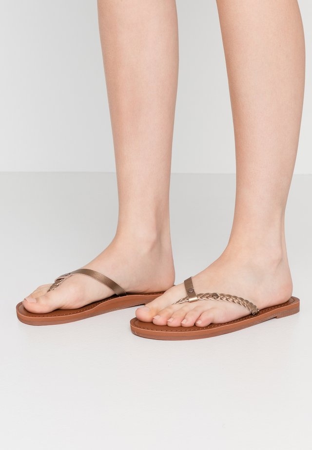 T-bar sandals - bronze