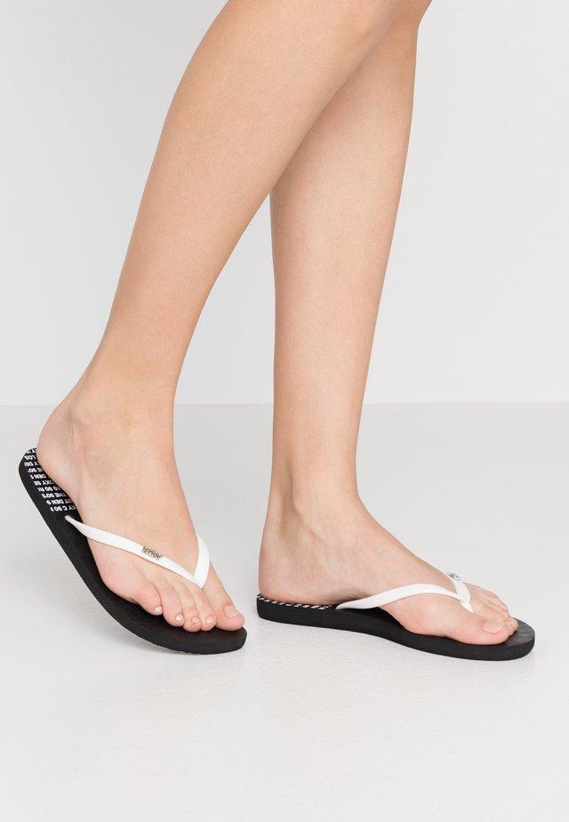 VIVA STAMP - Sandály do bazénu - black
