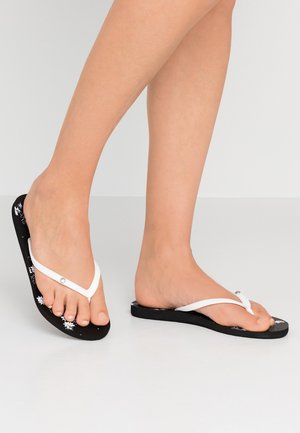 BERMUDA - Pool shoes - black/white