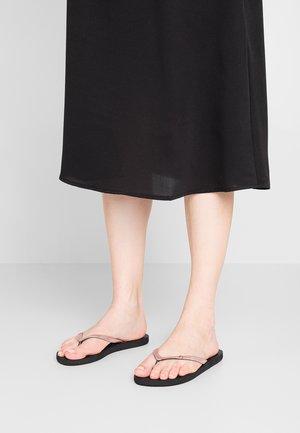 VIVA GLITTER - Pool shoes - black/rust