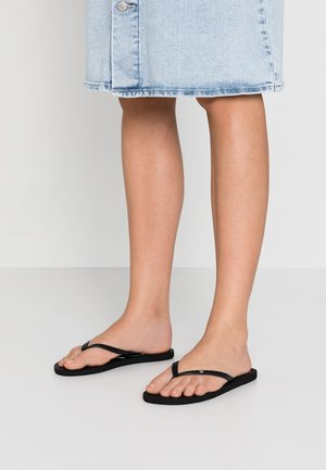SANDY - T-bar sandals - black/multicolor