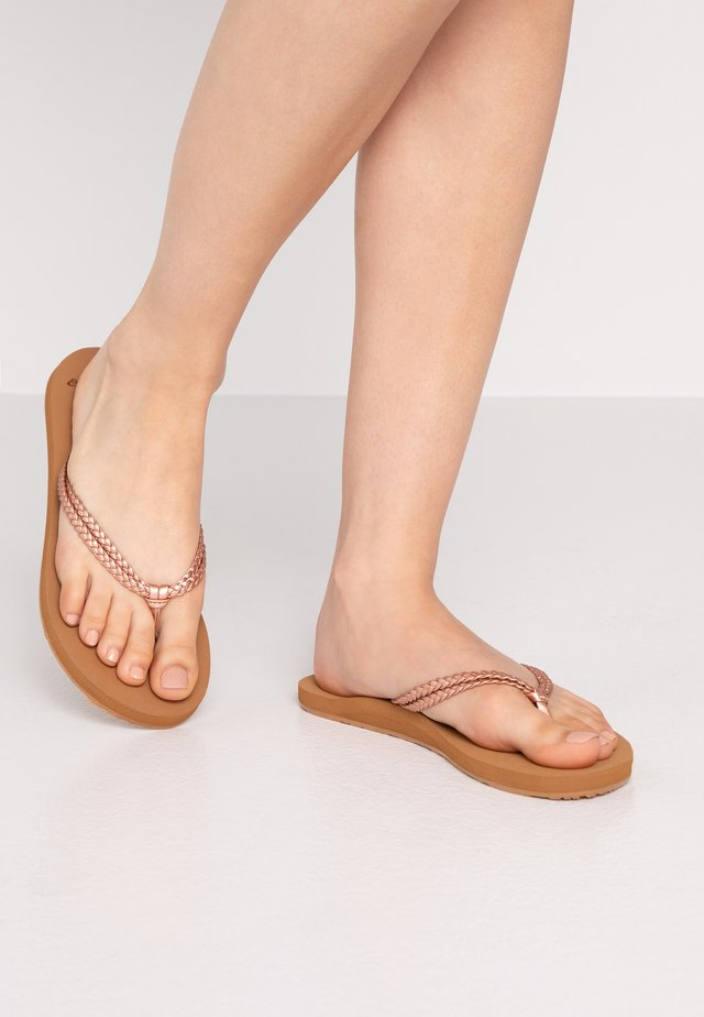 COSTAS - T-bar sandals - rose gold