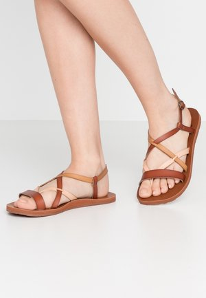 LAYTON - T-bar sandals - tan