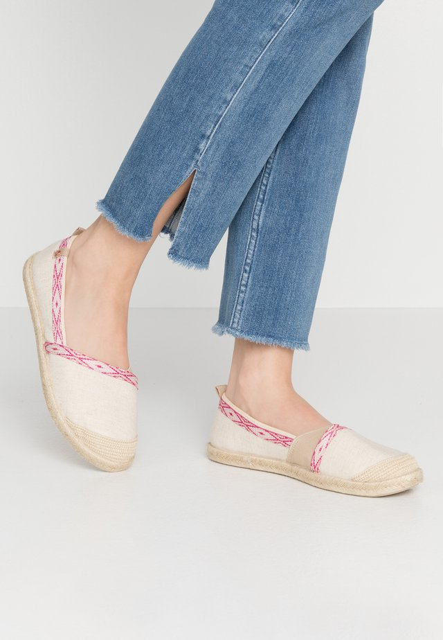 Espadryle - natural/crazy pink