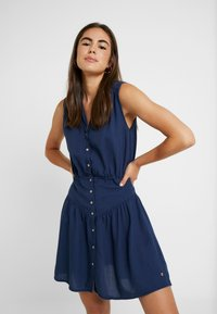 Roxy - SISTER X SHINY NIGHT - Shirt dress - dress blues - 0