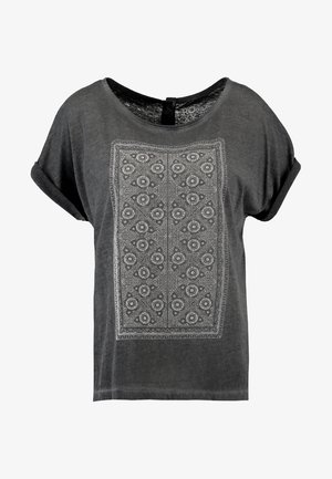SUMMERTIME HAPPINESS - T-shirt med print - dark grey