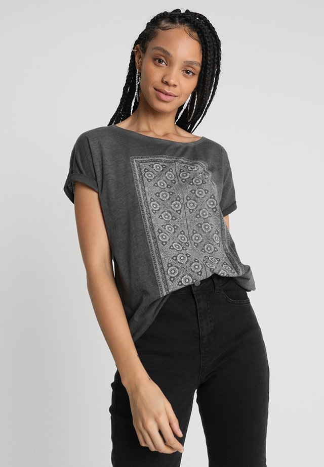 SUMMERTIME HAPPINESS - T-shirt con stampa - dark grey