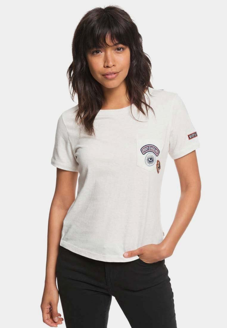 Roxy - FROSTY GARDEN - Print T-shirt - marshmallow
