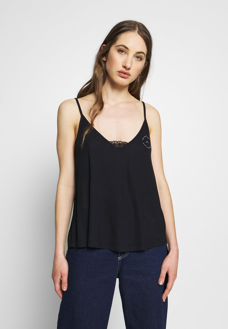 Roxy - CHILL ZONE TEES - Topper - anthracite