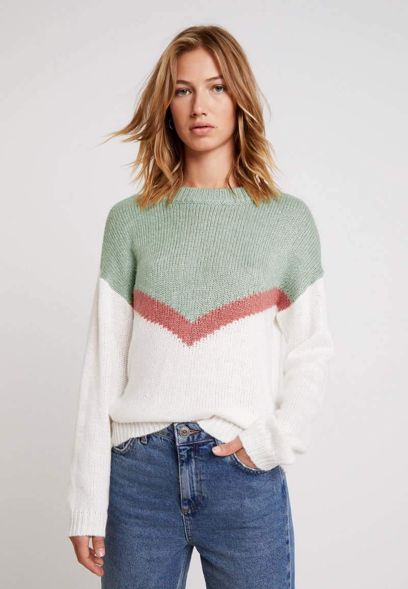 Roxy - TRIP FOR TWO - Strickpullover - snow white
