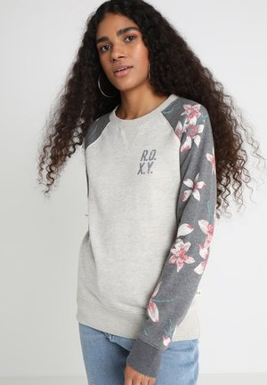 Sweatshirt - charcoal heather flower field