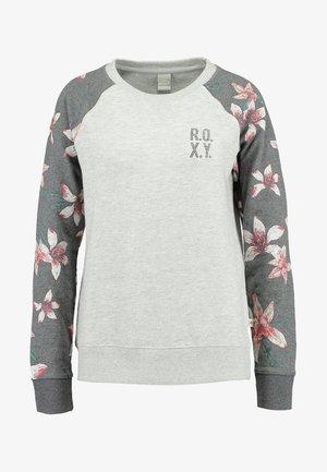 Sweatshirt - charcoal heather flower field