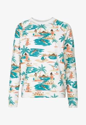NIGHT IS YOUNG - Sweatshirt - snow white honolulu