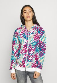 Roxy - GOING RIGHT - Zip-up hoodie - snow white paradise - 0