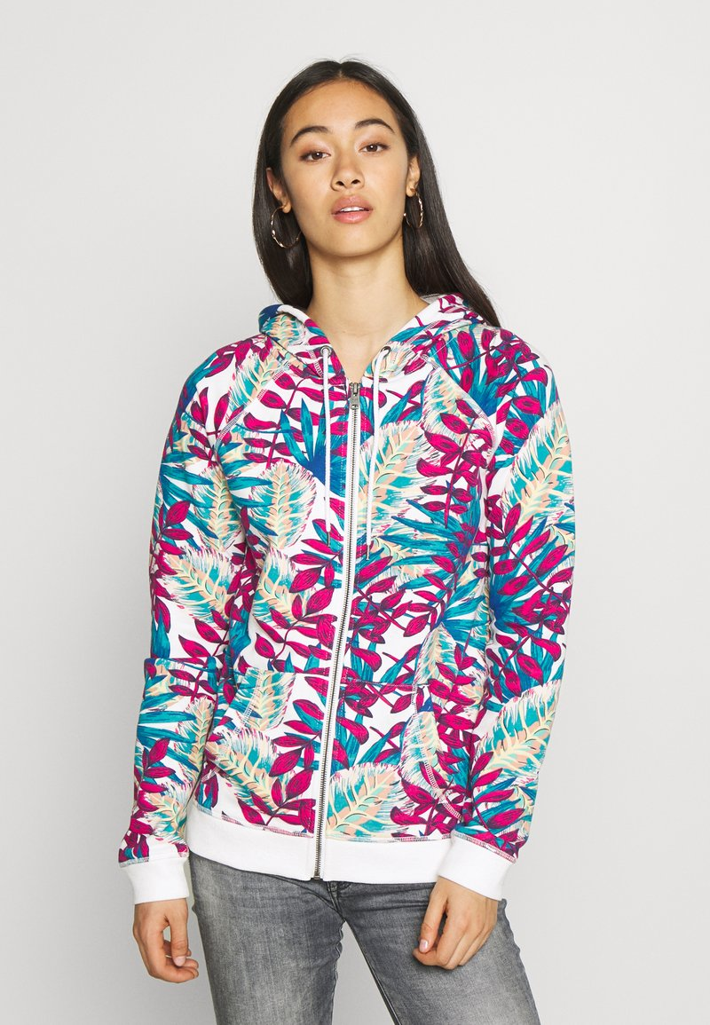 Roxy - GOING RIGHT - Zip-up hoodie - snow white paradise