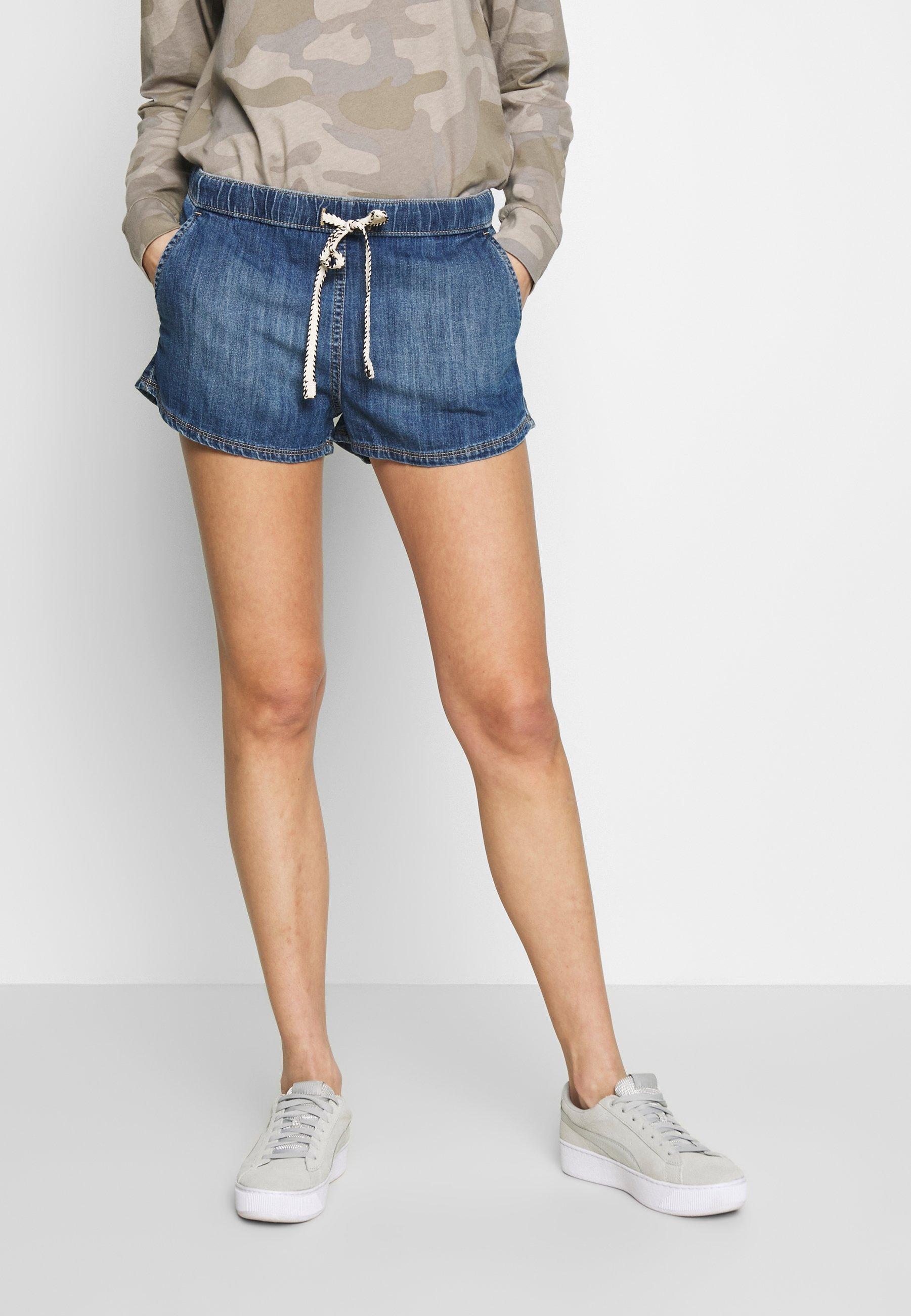Roxy GO TO THE BEACH - Szorty jeansowe - medium blue