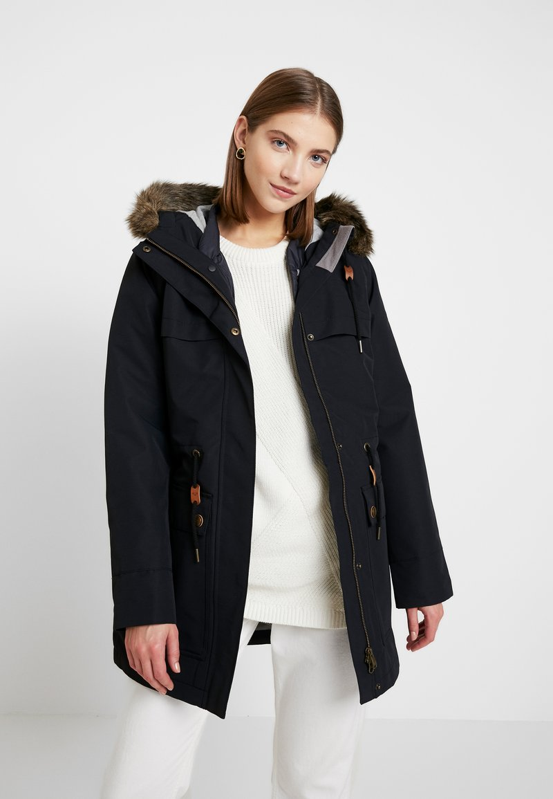 Roxy - AMY 3 IN 1 JACKET - Vinterkåpe / -frakk - true black