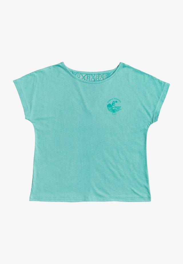 T-shirt print - mottled turquoise