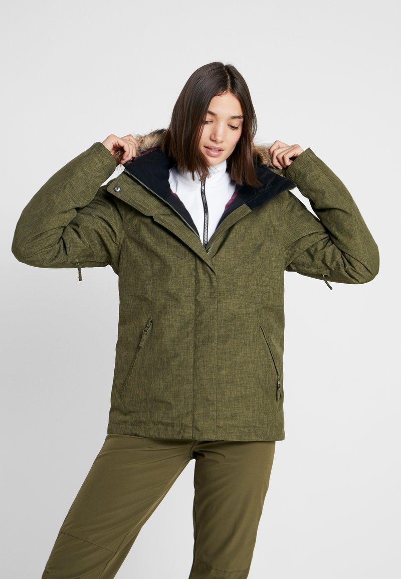 Roxy - JET SKI SOLID - Snowboardová bunda - ivy green