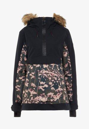 SHELTER  - Snowboardjas - true black poppy