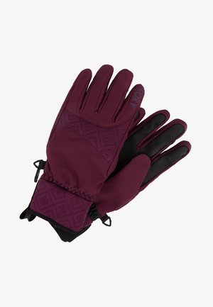 BIG BEAR GLOVES 2-IN-1 - Handschoenen - grape wine