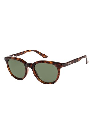 Sonnenbrille - shiny tortoise/green polarized