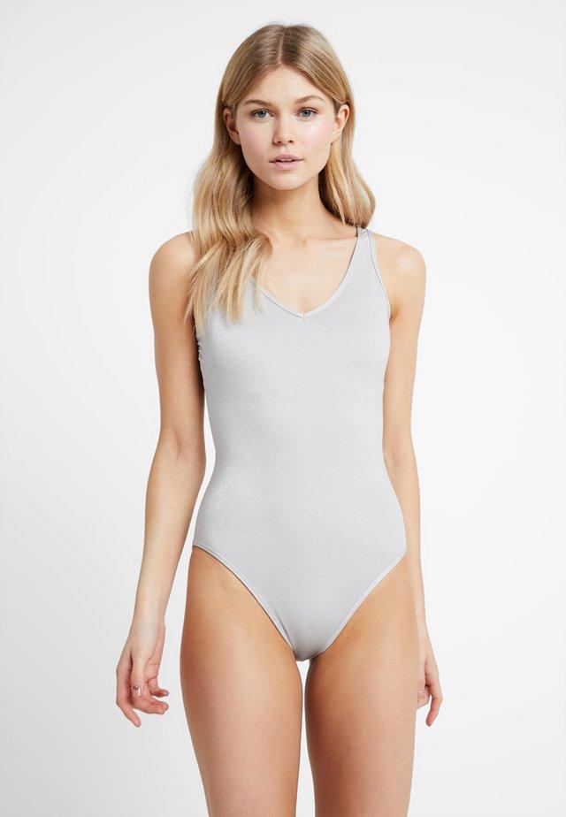 HAILEY BIEBER HIGH LEG ONE PIECE - Swimsuit - grey