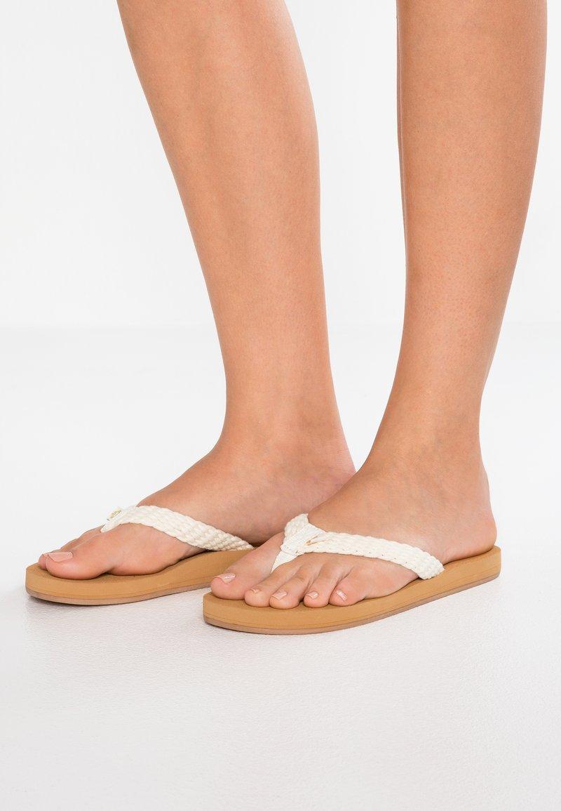 Roxy - PORTO - T-bar sandals - cream