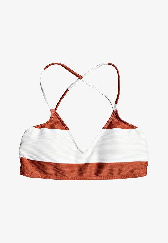 Bikini top - hot sauce big bold stripes s