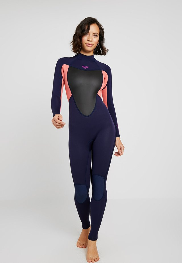 WETSUIT - Plavky - blue/coral flame