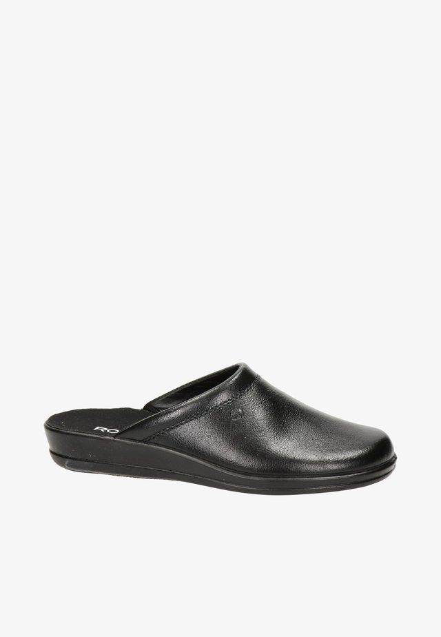 Pantoffels - zwart