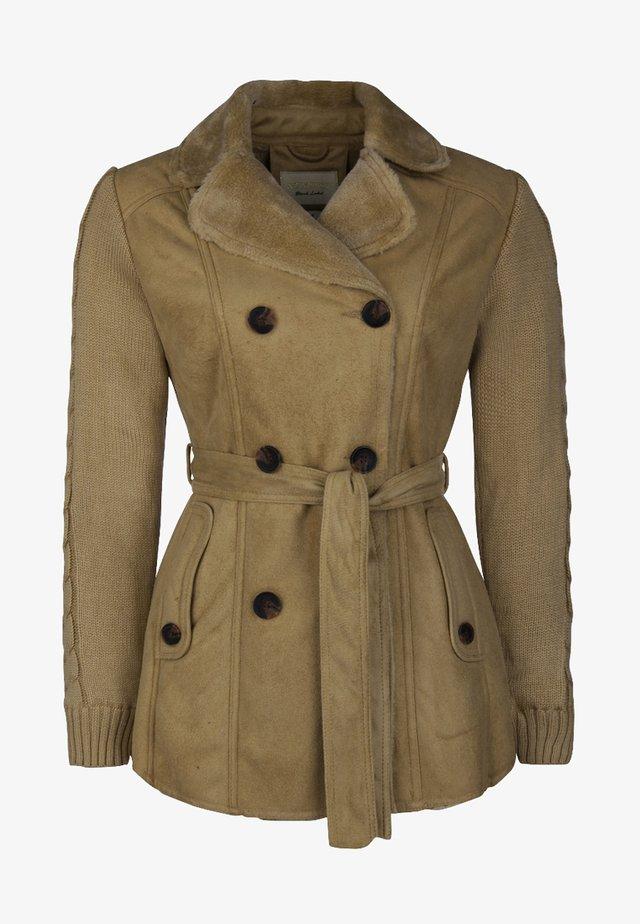 ROOSEVELT KURZMANTEL MIT ABNEHMBAREM GÜRTEL - Light jacket - beige