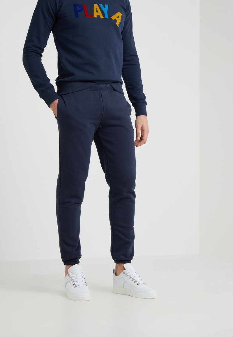 Ron Dorff - EYELET EDITION - Tracksuit bottoms - navy