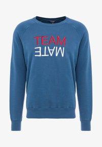 Ron Dorff - TEAM MATE RAISED EMBROIDERY - Sweatshirt - baltic blue - 3