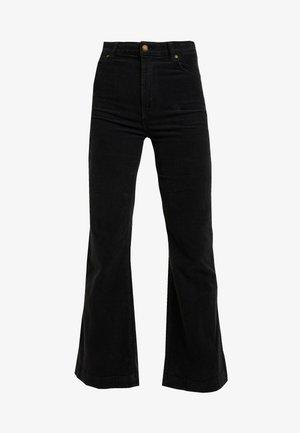 EASTCOAST FLARE - Trousers - black