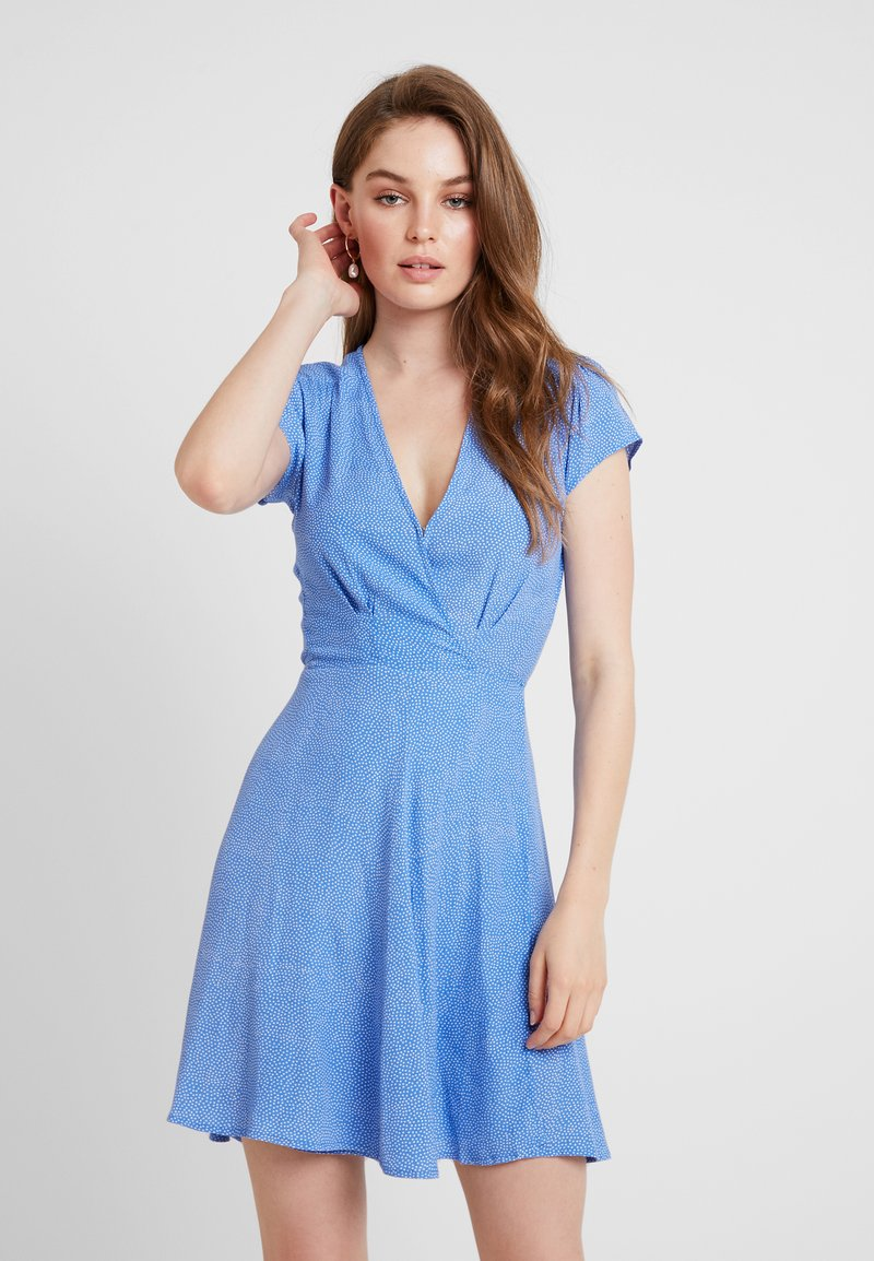 Rolla's - DANCER WRAP DRESS SPOT - Freizeitkleid - french blue