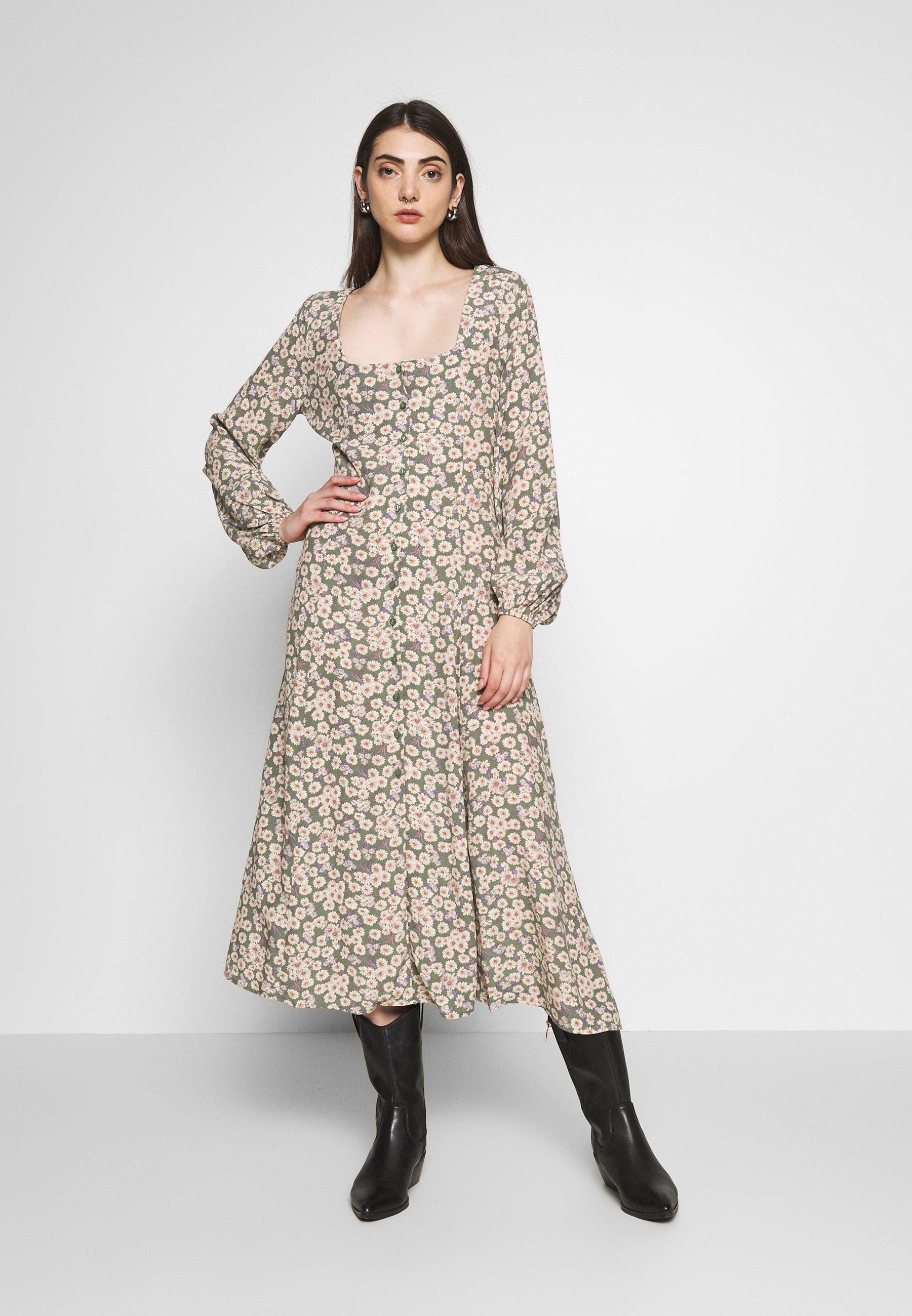 Rolla's RUBY LITTLE DAISIES DRESS - Skjortklänning - olive