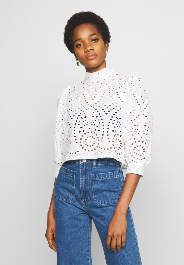 STEPHANIE BLOUSE - Button-down blouse - white