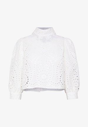 STEPHANIE BLOUSE - Button-down blouse - white