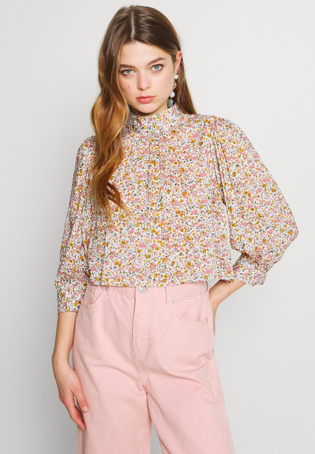 STEPHANIE COAST FLORAL BLOUSE - Pusero - white