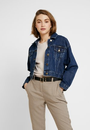 SLOUCH CROP JACKET - Denim jacket - charlene blue