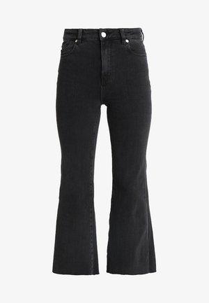 EASTCOAST CROP FLARE - Flared Jeans - black