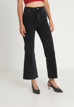 EASTCOAST CROP FLARE - Flared Jeans - black