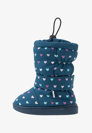 HEARTS - Snowboots  - blue