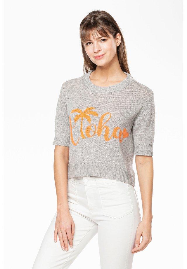 ALOHA - Print T-shirt - silver