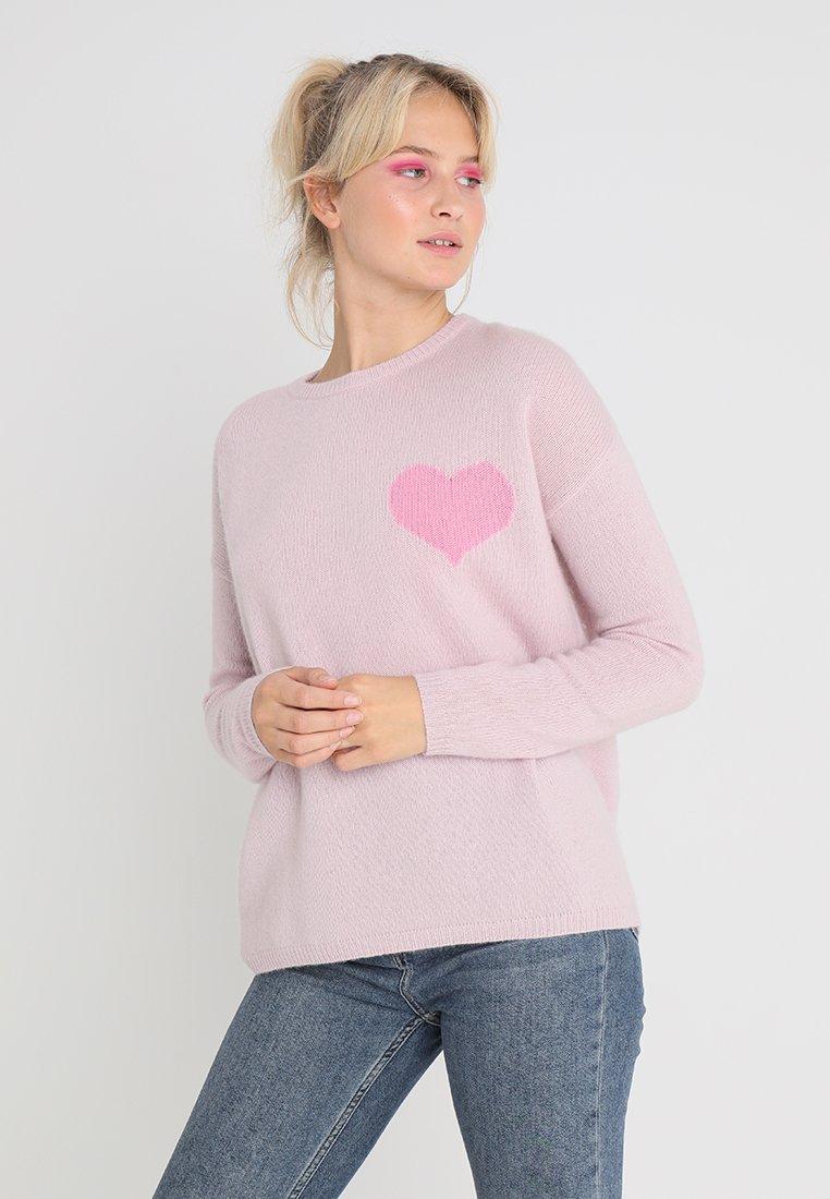 Rosa & Me - Stickad tröja - lila/bubble gum