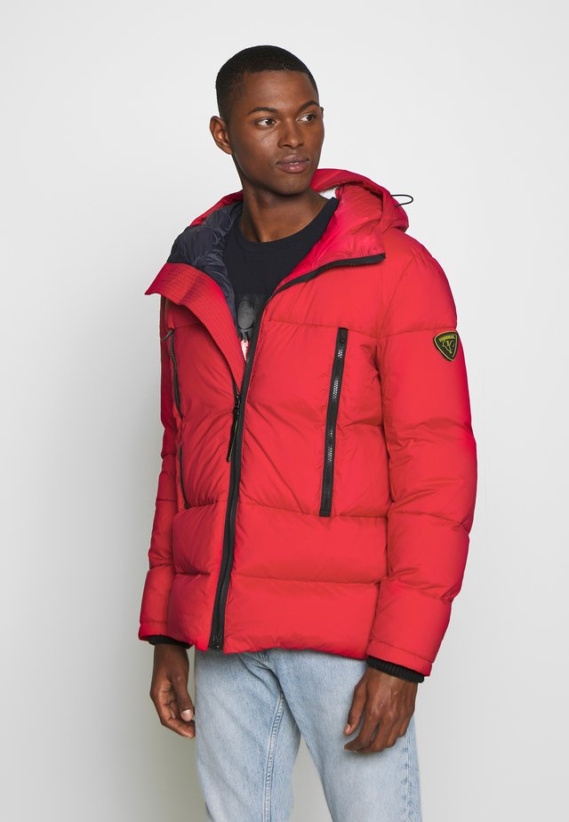 HOODED PUFFER - Down jacket - red
